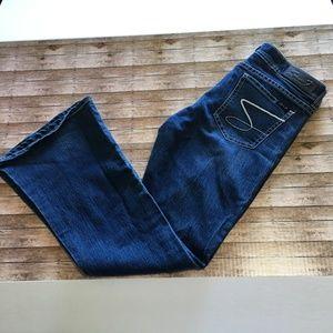 Seven7 flare jeans dark blue sz 12 GUC